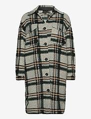 Vero Moda - VMCHRISSIE LONG CHECK SHIRT GA - kläder - light grey melange - 0