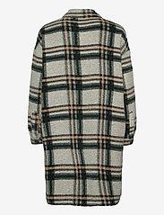 Vero Moda - VMCHRISSIE LONG CHECK SHIRT GA - overshirts - light grey melange - 2