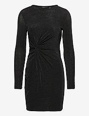 Vero Moda - VMAMIRA LS BLK DRESS JRS - vardagsklänningar - black - 0