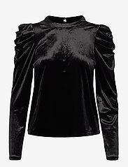 Vero Moda - VMKAITI LS TOP JRS - långärmade blusar - black - 0