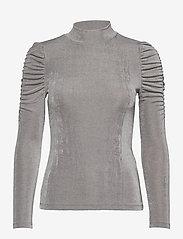 Vero Moda - VMAMIRA LS BLOUSE GA VO - långärmade toppar - frost gray - 0