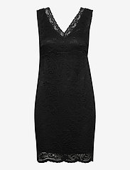 Vero Moda - VMJANNE SL SHORT LACE DRESS JRS BOO - fodralklänningar - black - 0