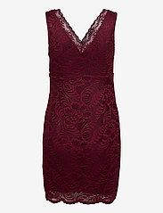 Vero Moda - VMJANNE SL SHORT LACE DRESS JRS BOO - fodralklänningar - cabernet - 1
