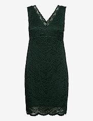 Vero Moda - VMJANNE SL SHORT LACE DRESS JRS BOO - fodralklänningar - pine grove - 0