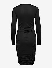 Vero Moda - VMNEXT LS  O-NECK SHORT DRESS VMA - vardagsklänningar - black - 1
