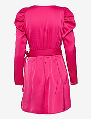 Vero Moda - VMJUVA L/S WRAP SHORT DRESS WVN LCS - omlottklänningar - pink peacock - 1