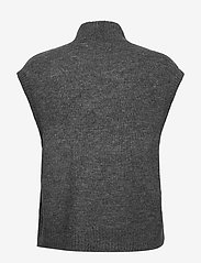 Vero Moda - VMLEFILE SL HIGHNECK VEST BOO - stickade västar - medium grey melange - 1