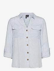 Vero Moda - VMBUMPY L/S SHIRT COLOR - långärmade skjortor - snow white - 0