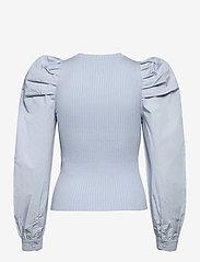 Vero Moda - VMMORGAN LS O-NECK BLOUSE GA - långärmade blusar - blue fog - 1