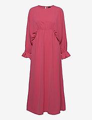 Vero Moda - VMALLY WIDE L/S ANKLE DRESS EXP - midiklänningar - hot pink - 0