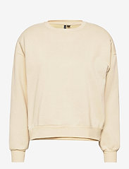 Vero Moda - VMDAISY L/S MUSCLE SWEAT EXP - sweatshirts - creme brle - 0