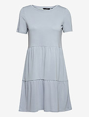 Vero Moda - VMFILLI CALIA SS SHORT DRESS GA - sommarklänningar - blue fog - 0