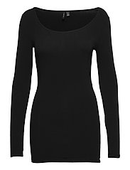 VMMAXI MY LS SOFT LONG U-NECK GA - BLACK