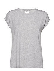 VMAVA PLAIN SS TOP GA NOOS - LIGHT GREY MELANGE