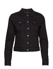 VMHOT SOYA LS DENIM JACKET MIX GA - BLACK