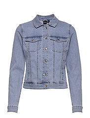 VMHOT SOYA LS DENIM JACKET MIX GA - LIGHT BLUE DENIM