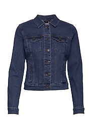 VMHOT SOYA LS DENIM JACKET MIX GA - MEDIUM BLUE DENIM