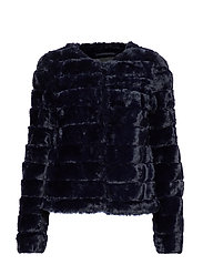 VMAVENUE FAUX FUR SHORT JACKET BOOS - NIGHT SKY