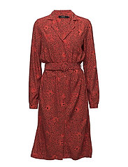 VMMADELEINE LS DRESS MMVM - FIERY RED