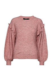 VMBLUMI BALLOON LS O-NECK BLOUSE - OLD ROSE