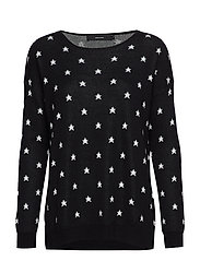 VMDOTTY LS OVERSIZE BOATNECK BLOUSE NOOS - BLACK