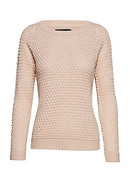 VMAMI SURF LS BOATNECK BLOUSE - SEPIA ROSE