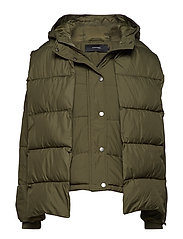 VMSCARF PUFFER SHORT JACKET KI - IVY GREEN