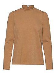 VMFOREST LS PLEAT SWEAT VMA - TOBACCO BROWN