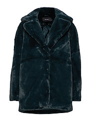 VMALVIK FAUX FUR JACKET REP - ALPINE GREEN
