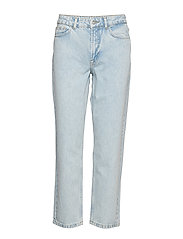 VMSARA MR RELAXED STR JEANS ST301 VMA - LIGHT BLUE DENIM