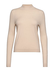 VMKARIS LS HIGHNECK BLOUSE REP BOO - BIRCH