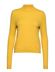 VMKARIS LS HIGHNECK BLOUSE REP BOO - SPICY MUSTARD