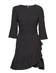 VMCITA 3/4 BELL WRAP DRESS EXP - BLACK