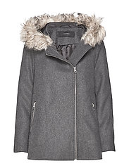 VMCOLLARYORK WOOL JACKET - DARK GREY MELANGE