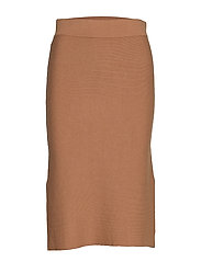 VMNANCY HW PENCIL SLIT SKIRT - TOBACCO BROWN