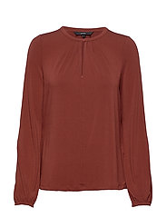 VMMILLA L/S BUTTON TOP VO - MADDER BROWN