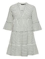 VMHELI 3/4 SHORT DRESS WVN GA - SNOW WHITE