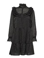VMJULIA L/S SHORT DRESS SB2 - BLACK