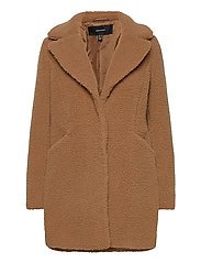 VMDONNA TEDDY 3/4  JACKET BOOS GA - TOBACCO BROWN