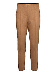 VMCAVA ZIP NW FAUX SUEDE LEGGING JRS BOO - TOBACCO BROWN