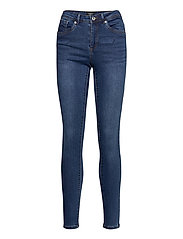 VMTANYA MR S PIPING JEANS VI369 - DARK BLUE DENIM