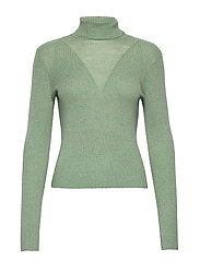 VMCUTIE LS HIGHNECK BLOUSE - HEDGE GREEN