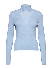 VMCUTIE LS HIGHNECK BLOUSE - PLACID BLUE
