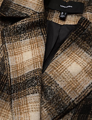 Vero Moda - VMHAILEY CHECK LONG WOOL JACKET GA - ullkappor - tobacco brown - 3