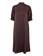VMMARLIN 2/4 CALF DRESS VMA - CHOCOLATE PLUM
