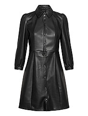 VMBUTTERMOLLY ABOVE KNEE COATED DRESS - BLACK