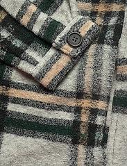 Vero Moda - VMCHRISSIE LONG CHECK SHIRT GA - overshirts - light grey melange - 4