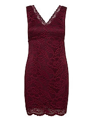 VMJANNE SL SHORT LACE DRESS JRS BOO - CABERNET
