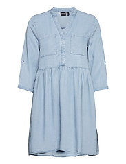 VMLIBBIE 3/4 LOOSE TUNIC GA COLOR - LIGHT BLUE DENIM