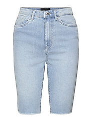 VMLOA FAITH HR L DNM SHORTS MIX GA - LIGHT BLUE DENIM